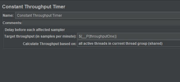 constant throughput timer