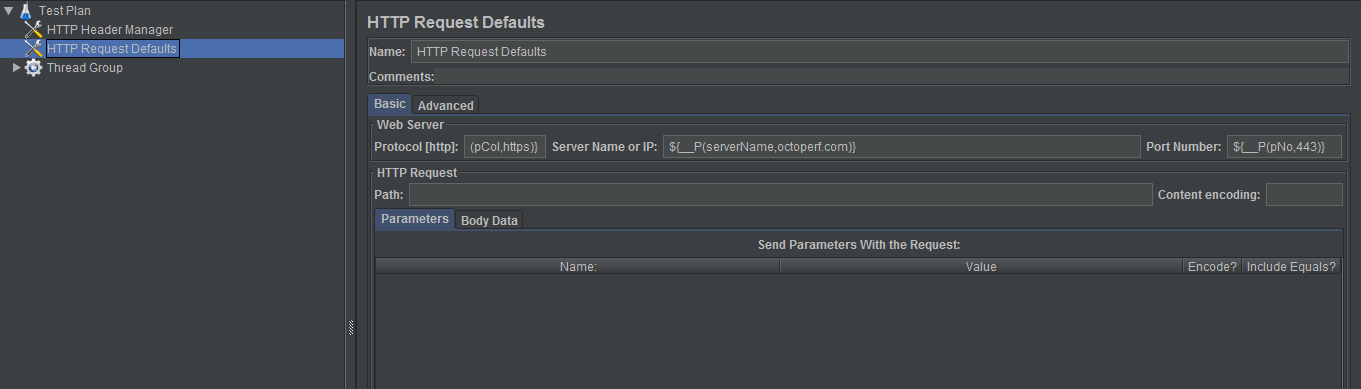 HTTP Header With Variables