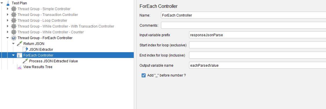 JMeter ForEach Controller
