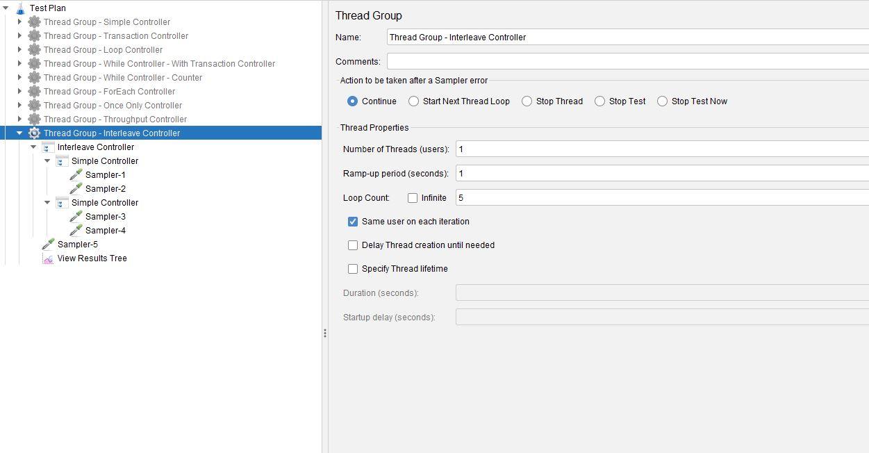JMeter Interleave Controller Test Plan
