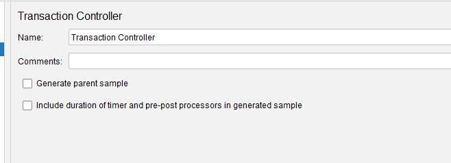 JMeter Transaction Controller