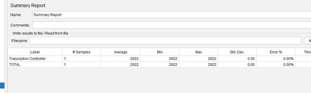 JMeter Transaction Controller Generate Summary Report