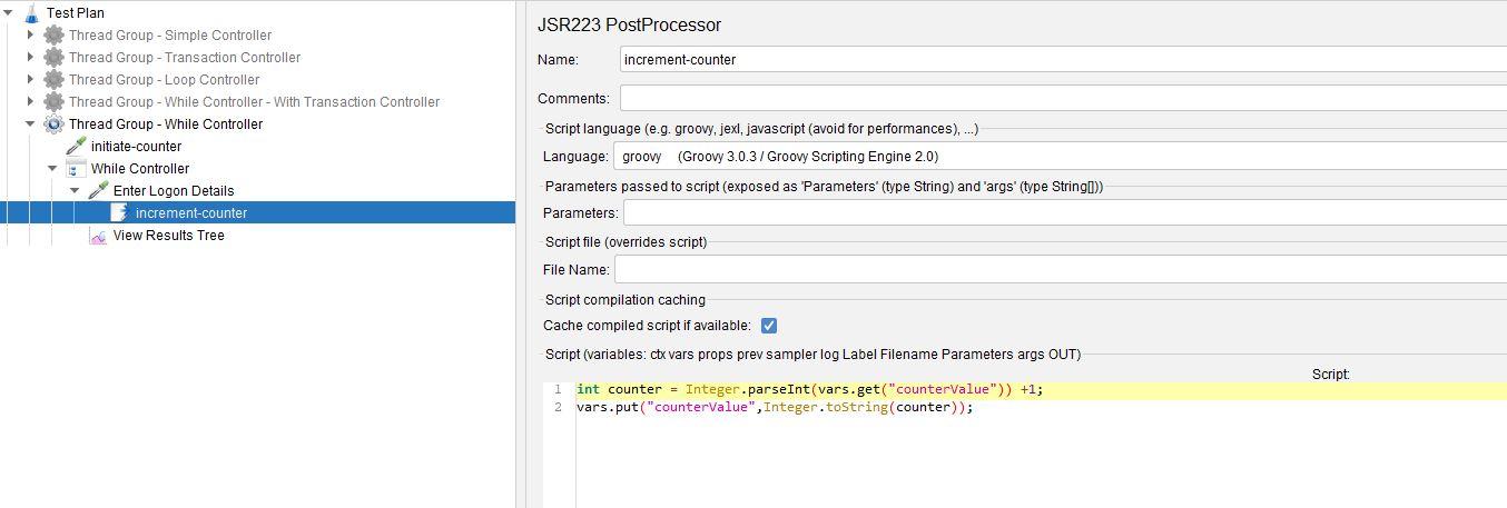 JMeter JSR223 Post Processor