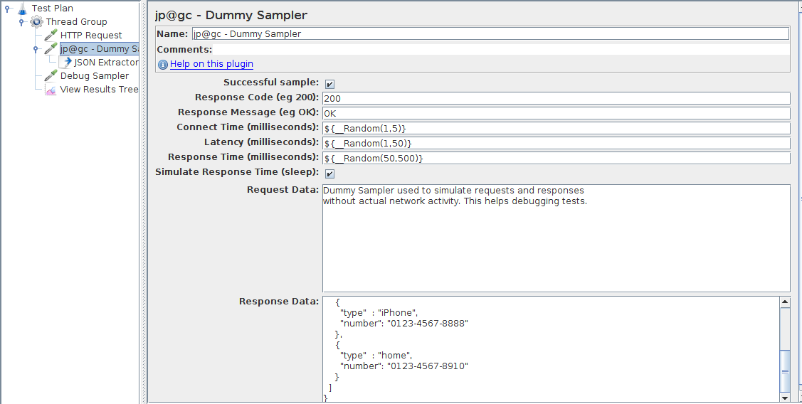 JMeter Dummy Sampler