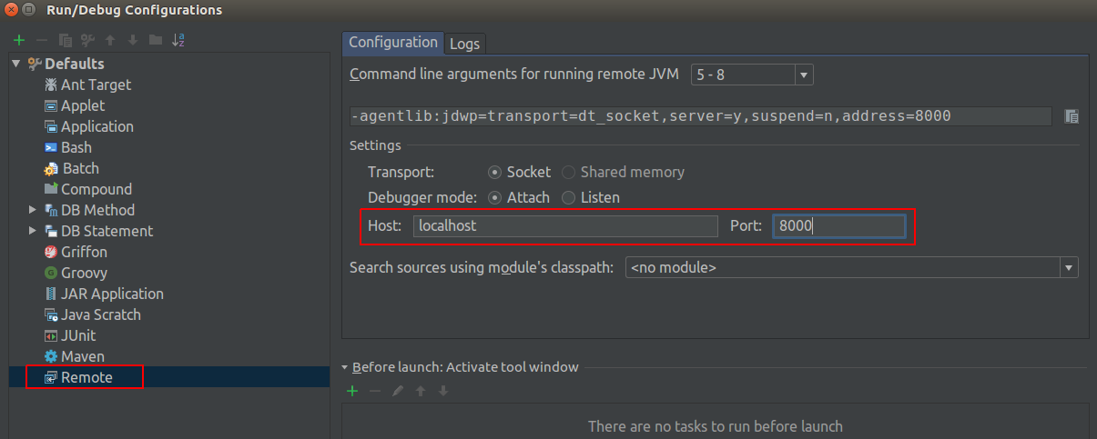 Intellij Remote Debug