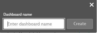 Create dashboard name