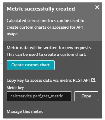 Create metrics key