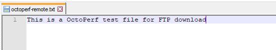 FTP Server File Contents