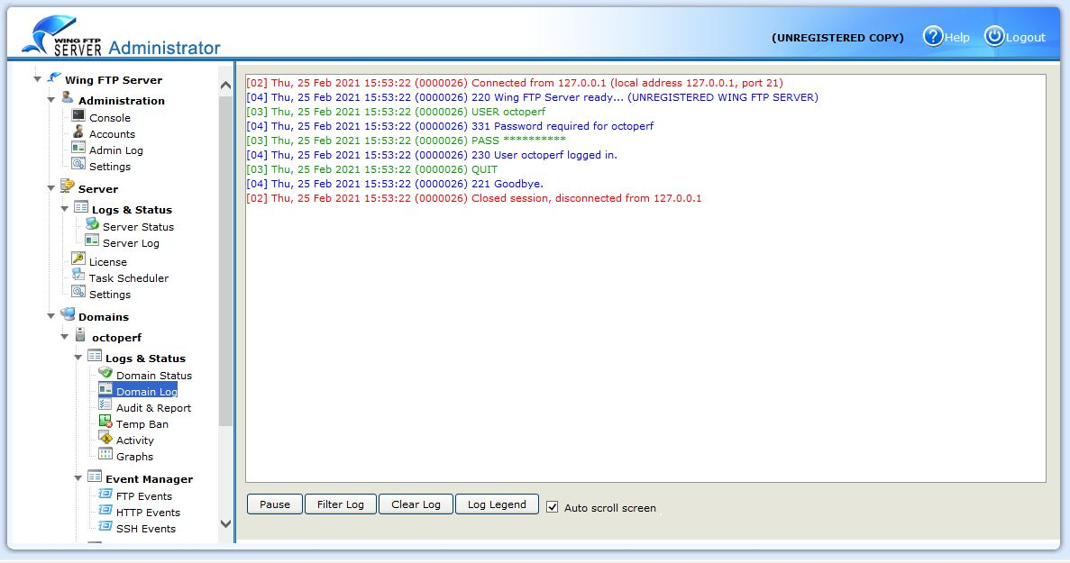 FTP Server Logs
