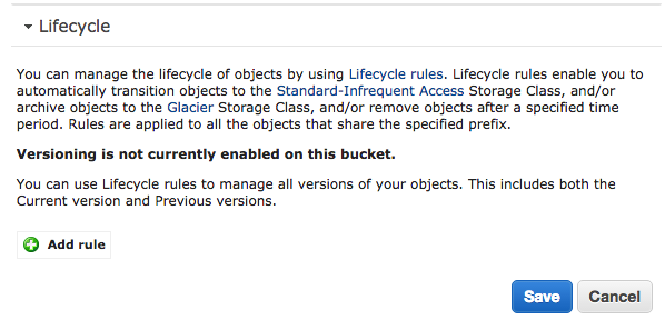 S3 bucket lifecycle