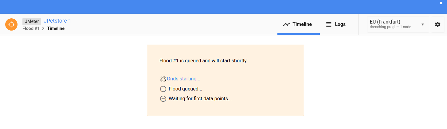 Flood Starting Test