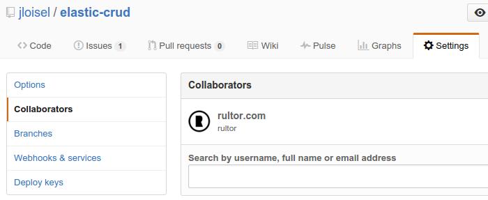 Rultor Github Collaborator
