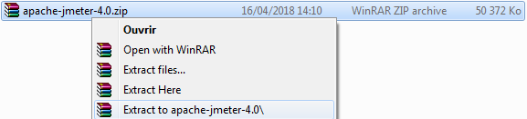 Extract JMeter Archive
