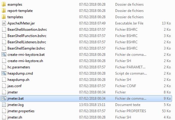 JMeter Bin Folder