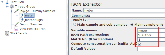 JMeter Json Extractor Sample JMX