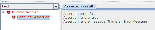 JMeter BeanShell Assertion Failure