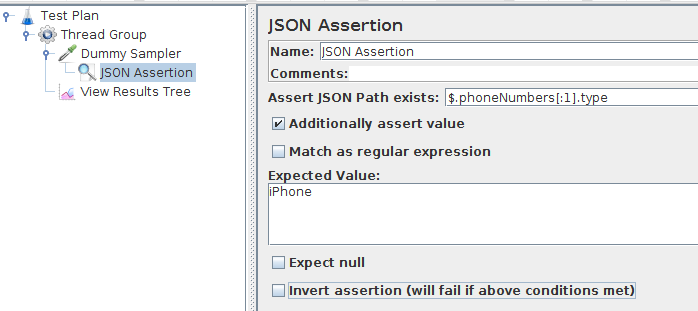 JMeter JSON Assertion