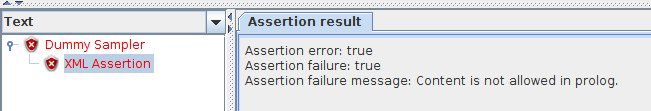 JMeter XML Assertion Failure