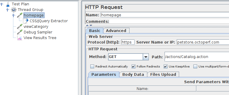 HTTP Request Homepage