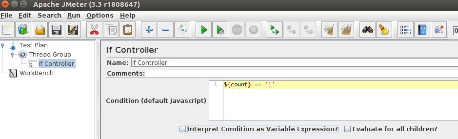 JMeter If Controller