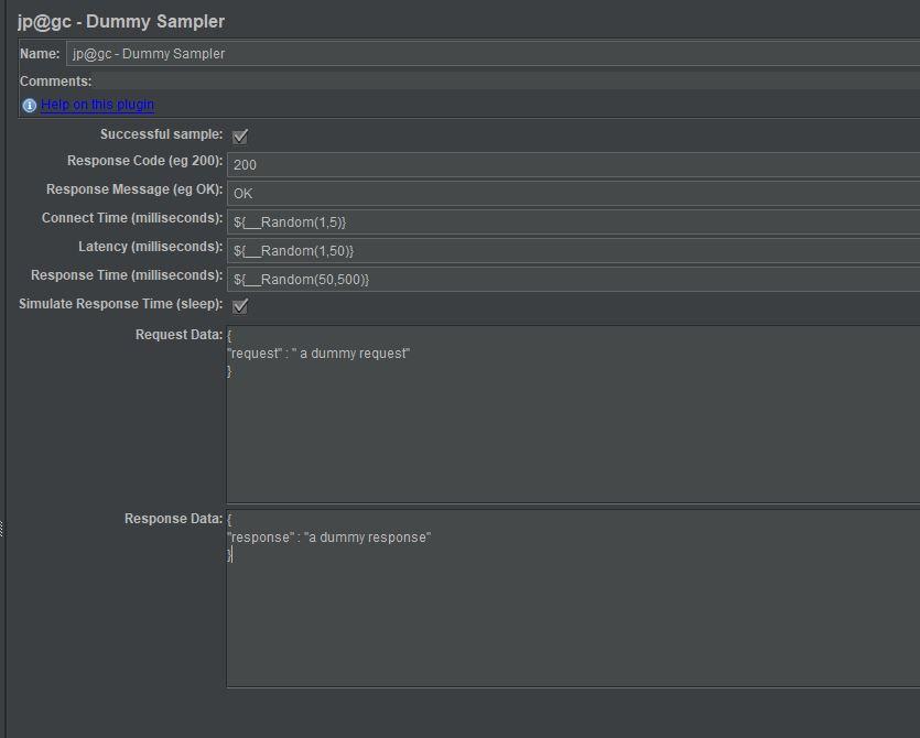 jmeter dummy sampler example