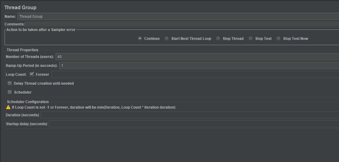throughput shaping timer test plan thread group