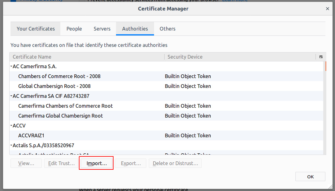 Firefox Certificates