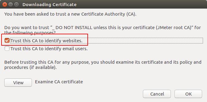 Firefox Trust Certificate