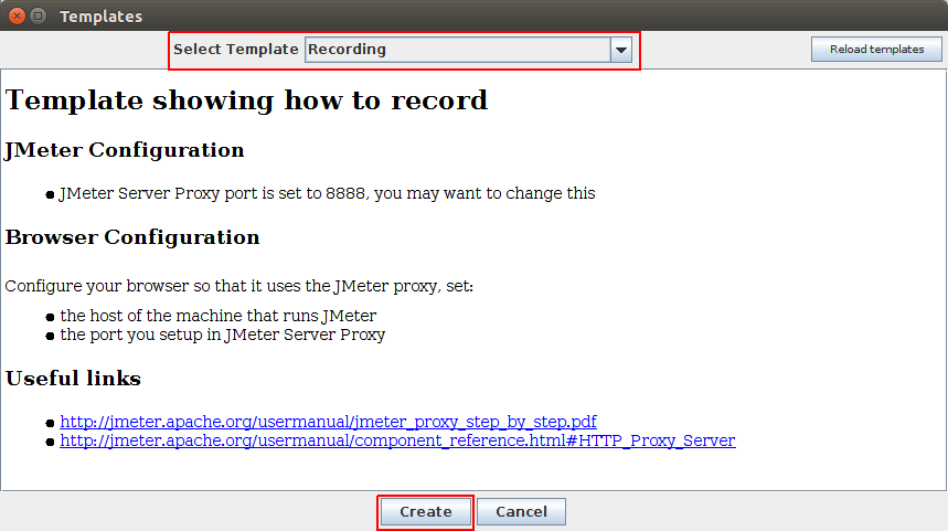 JMeter Recording Template