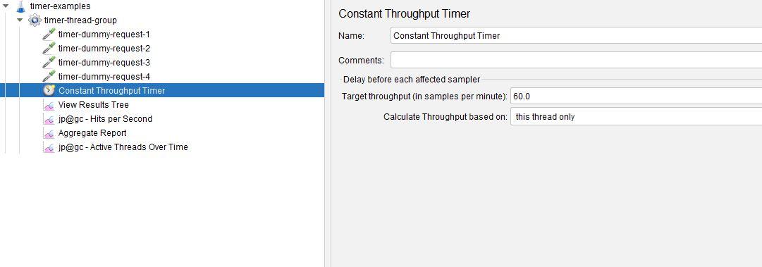 Constant Throughput Timer