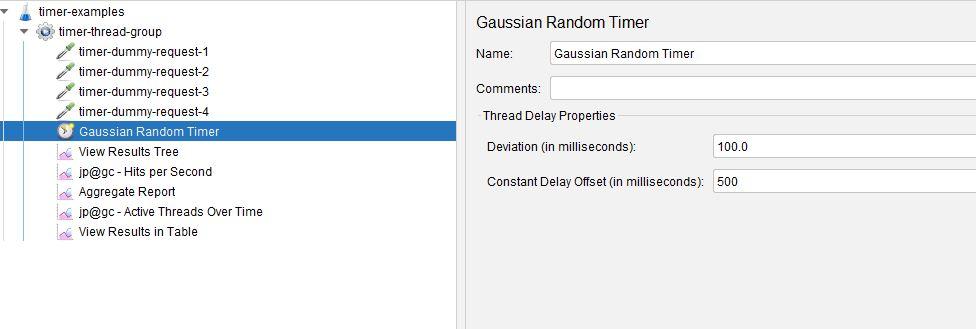 Gaussian Random Timer
