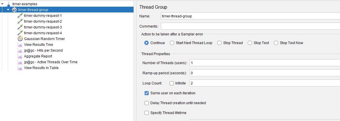 Gaussian Random Timer Revised Thread Group