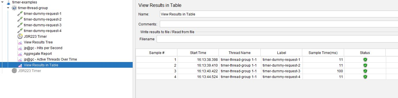 JSR223 Second Example Results