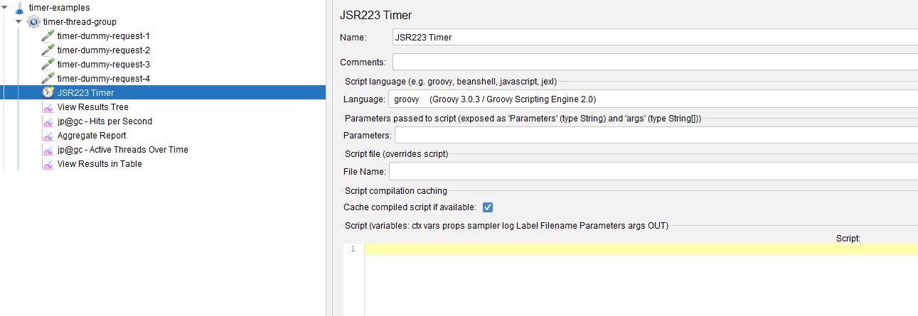 JSR223 Timer