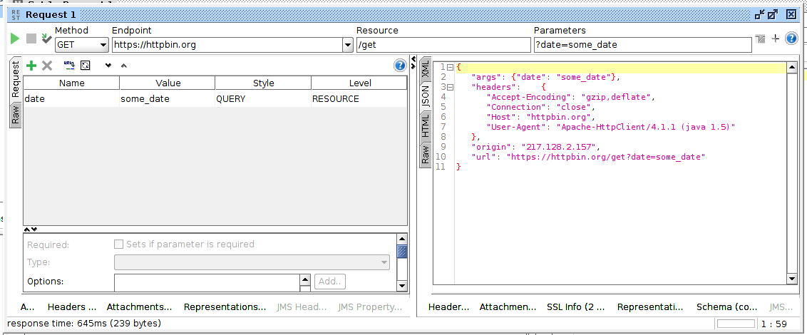 SoapUI Add Query Parameter