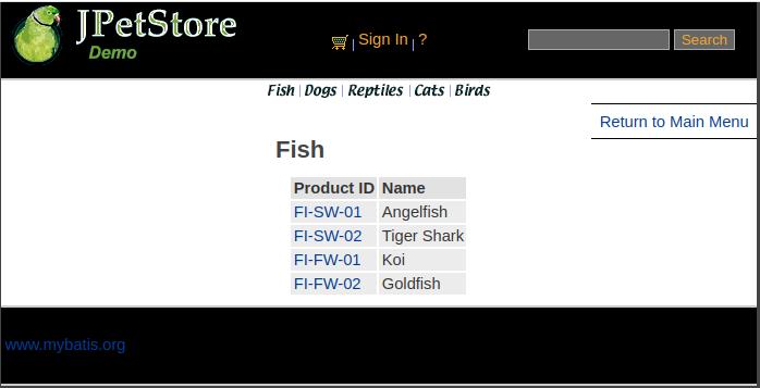 Kraken PetStore Fishes