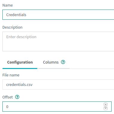 CSV-variable-configuration