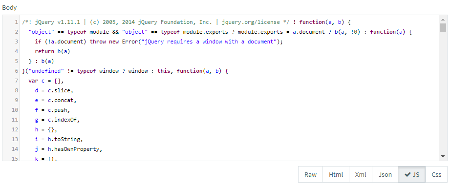 Response Format JS