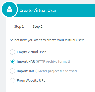 Create Virtual User from HAR