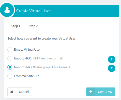 Create Virtual User from JMX