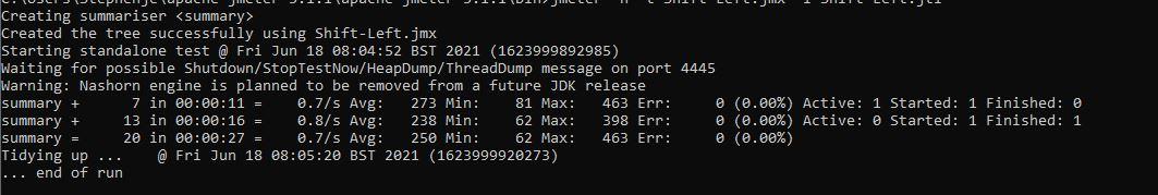 JMeter command line execution
