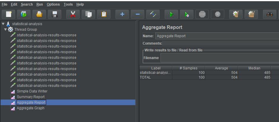 aggregate report median