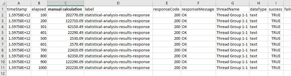 standard deviation calculation one analysis spreadsheet