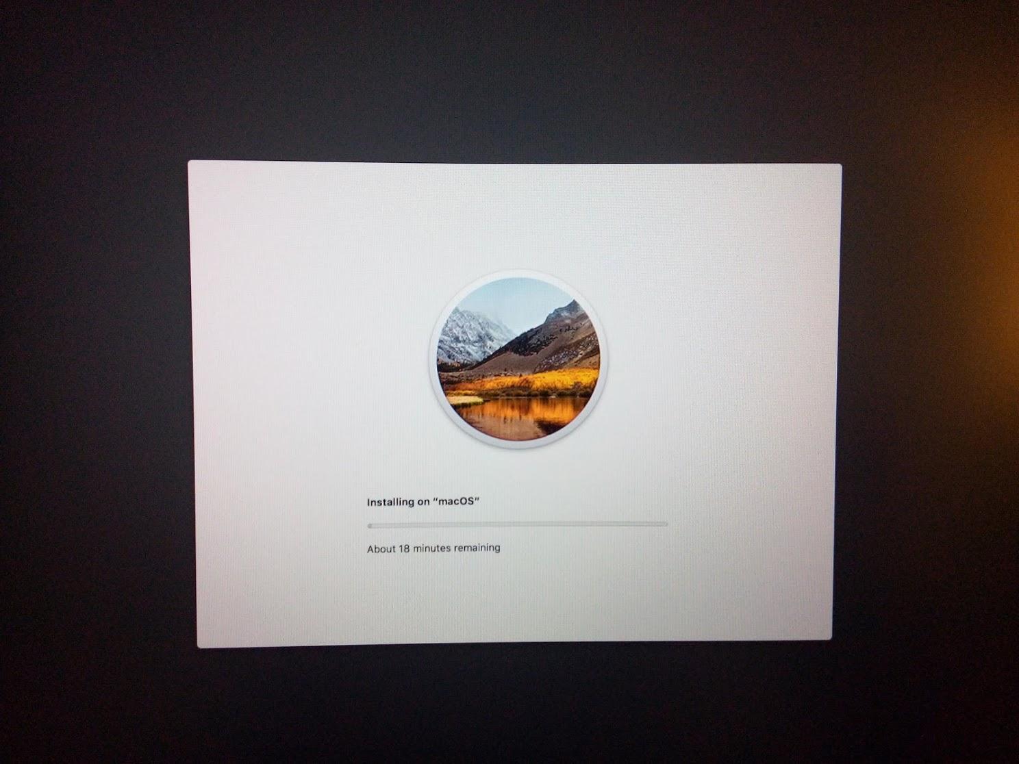 Installing MacOS