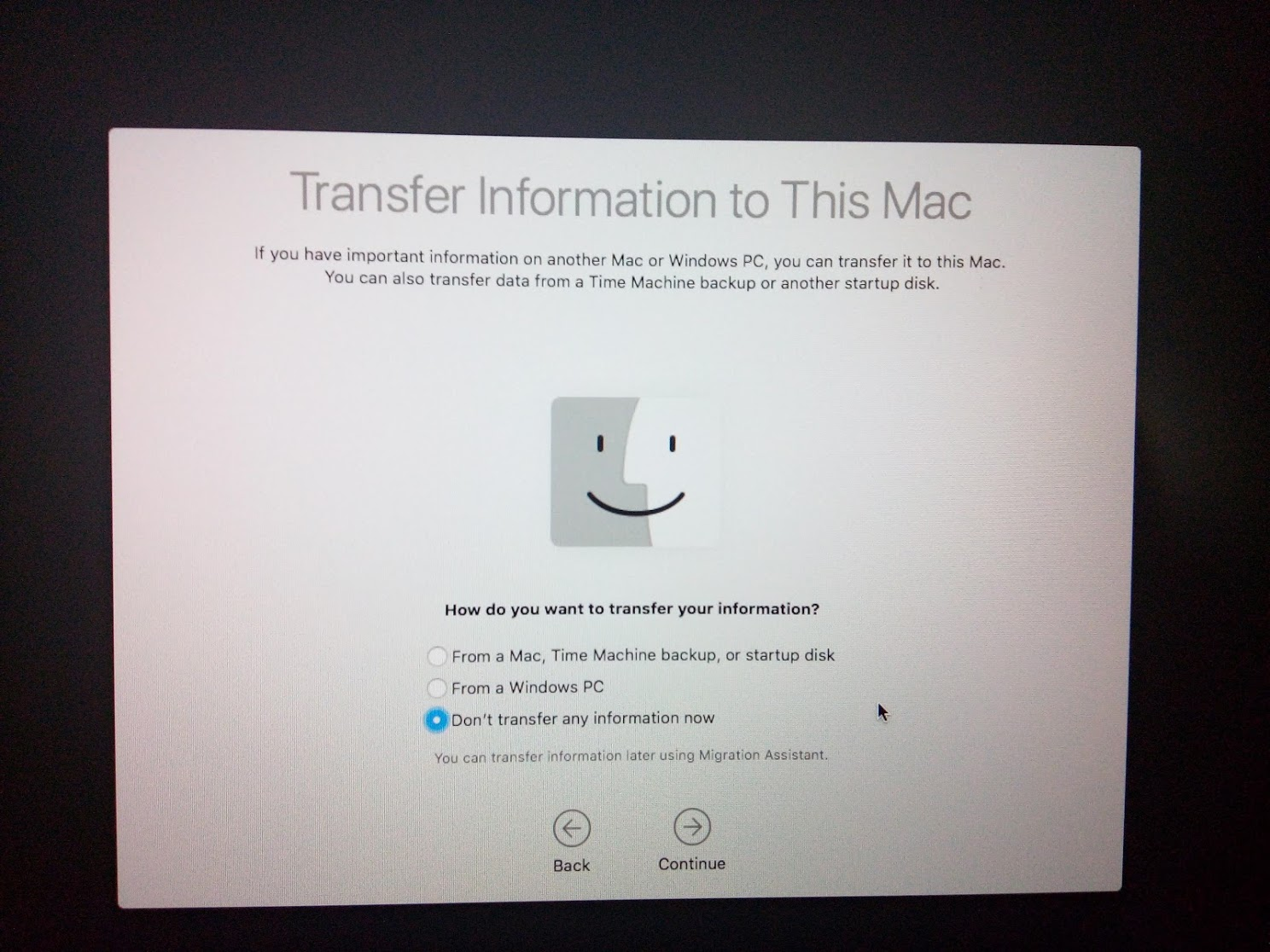 MacOS Account