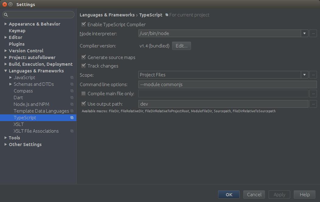 TypeScript WebStorm