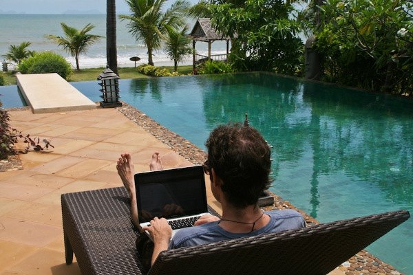 Digital Nomad working from Koh Lanta
